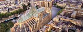 Architects propose a Gothic and biomimetic roof for Notre Dame