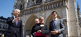 Trudeau offers Canadian wood and steel to rebuild Notre Dame