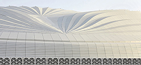 Zaha Hadid-designed Qatar stadium resembles the pleats of a ship's sail