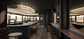 Montréal bar uses lighting and acoustics to create a 'warmly glacial' atmosphere