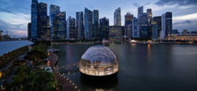 Apple's most ambitious retail store floats on the waters of Singapore's Marina Bay
