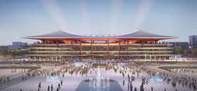 Zaha Hadid Architects design 2023 Asian Cup stadium