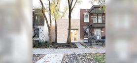 Montréal architects weave 'shoebox' home across the site's landscape