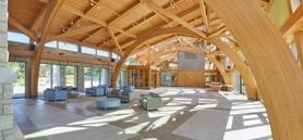 Toronto Montessori School adds wooden atrium