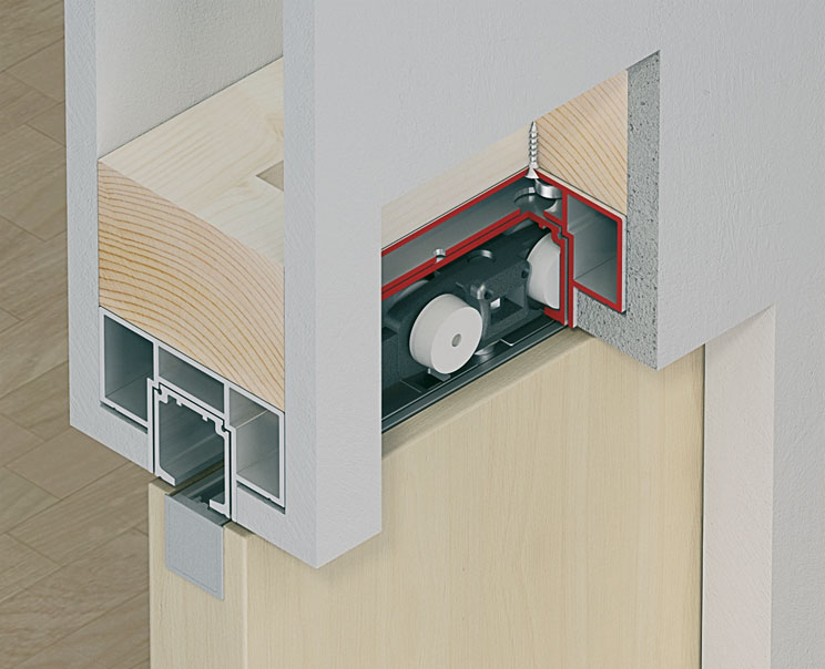 Slido Classic 40-120 I Running Track for Wall Pocket Solutions