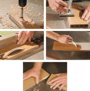 Some rice-based products can be cut, sanded, stained, and refinished to create various pieces.