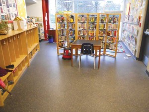 Subjected to rigorous testing, recycled rubber flooring is a great choice for use in school libraries, cafeterias, locker rooms, and stairwells. Such spaces require materials that can stand up to abuse.