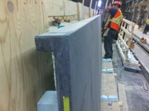 A close-up of a UHPC corner panel. Photo courtesy Lafarge