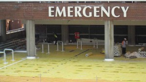 A hospital deck rehab used a welded polyvinyl chloride (PVC) system to reduce the existing deck preparation time and complete the construction faster to get the emergency room entrance back into its regular working service.