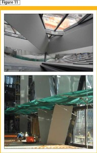 Expression of the architecturally exposed structural steel (AESS) diagonal elements of the atrium screen wall. Images courtesy Walters