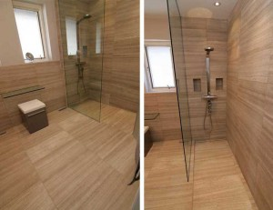The importance of accessibility for an aging population means an increase in barrier-free showers. Fortunately, advancement in building material technology allows these spaces to be not only easily constructed, but also eye-catching. Photos courtesy Ceramiques Hugo Sanchez