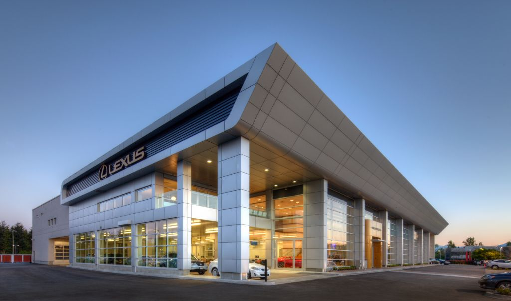 The multi-level Lexus store in Richmond is the largest Lexus dealership in Canada. It has earned Leadership in Energy and Environmental Design (LEED) Silver certification.