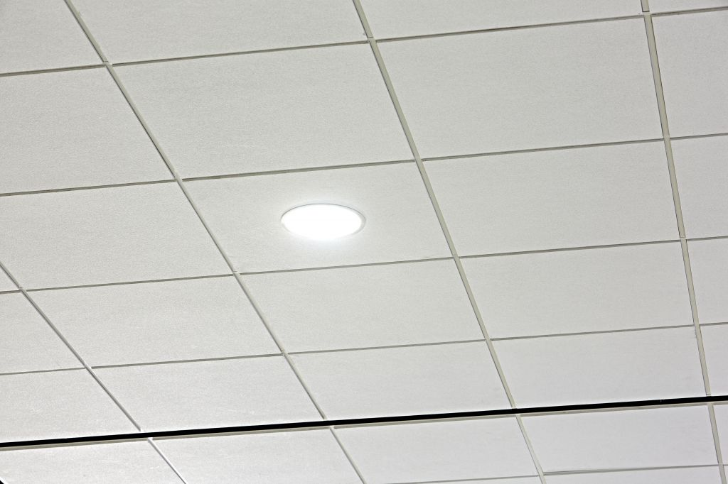 The ceiling tiles refl ect 86 per cent of light from the micro-textured, painted white panel's surface to the building's interior. Maximizing the use of natural light may allow the number of light fi xtures to be reduced, which lowers electronic light loads and cooling costs.