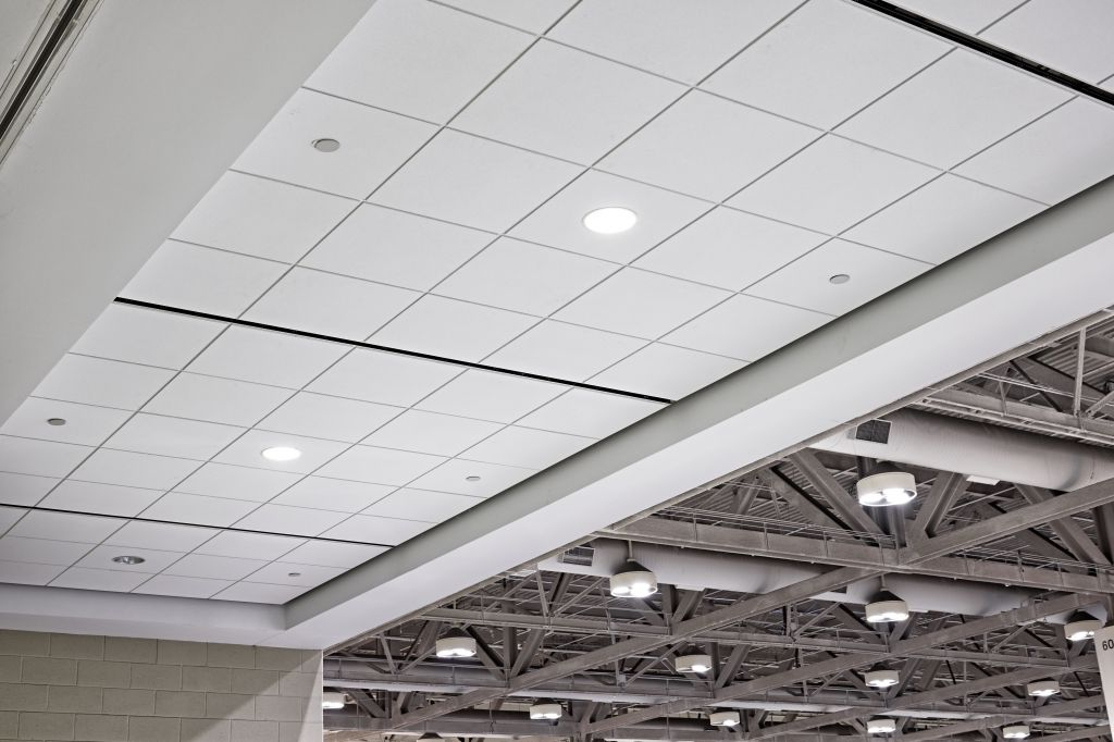 Showtech installed more than 3772 m2 (40,600 sf) of stone wool ceiling tile in the prefunction areas of the Metro Toronto Convention Centre's (MTCC's) South Building. Facility improvements were all scheduled during a three-month period with activity occurring between the convention center's events to avoid disrupting the clients and visitors.
