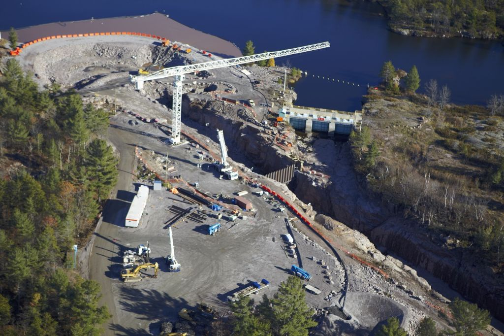 Clean energy projects, spearheaded by Aboriginal communities across the country, are increasing. This photo shows the Okikendawt Hydro Project, an initiative of the Dokis First Nation in Northern Ontario. Photo © Randy Restoule