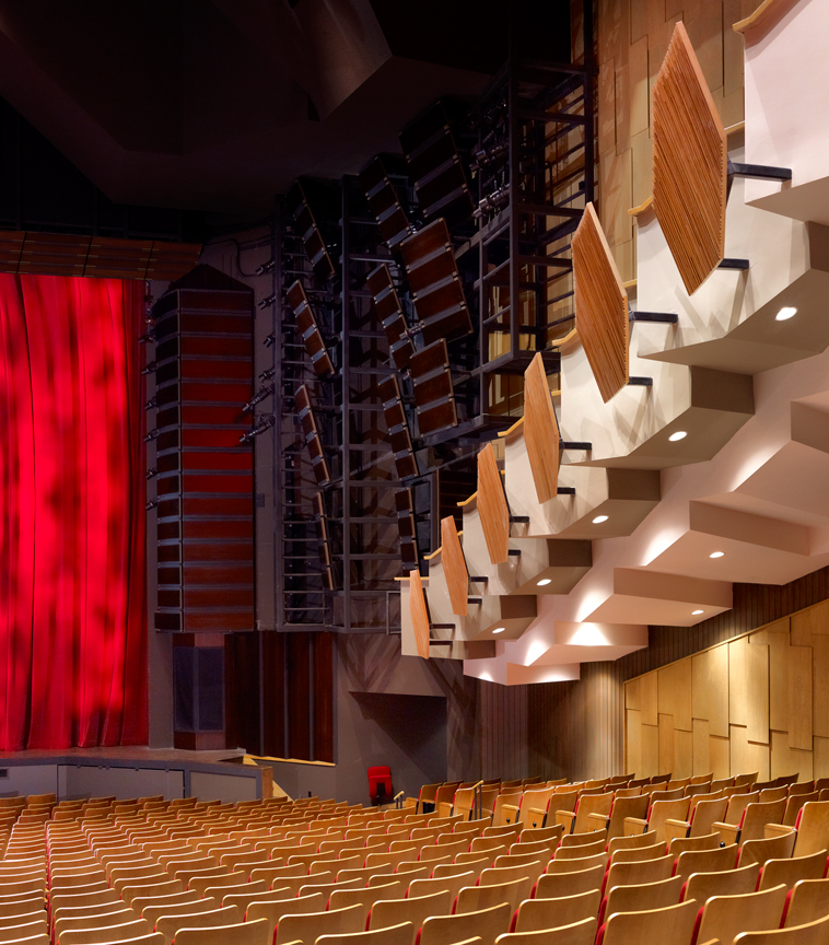 Renovations to Vancouver's Queen Elizabeth Theatre earned the project a Canadian Consulting Engineering (CCE) Award of Excellence. The poor acoustics of this hall were improved with acoustic reflectors strategically placed to maximize efficiency and proved even older, large facilities can work well acoustically.