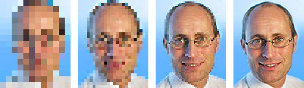 Does the system need to detect, recognize, or identify? This image shows the difference between eight, 16, 32, and 64 pixels across a face. Eighty pixels from ear-to-ear is recommended for identification.