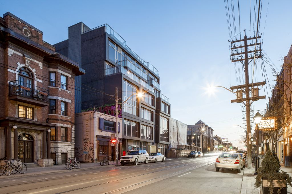 Cube Lofts (Toronto) was designed by Quadrangle Architects, with construction documents by Raw Design. Photo © Scott Nosworthy