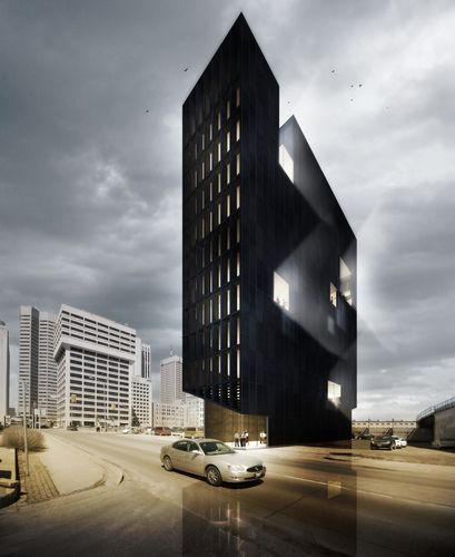 Winnipeg's 11-storey Bond Tower is one of 5468796 Architecture's recent projects. Image © 5468796 Architecture