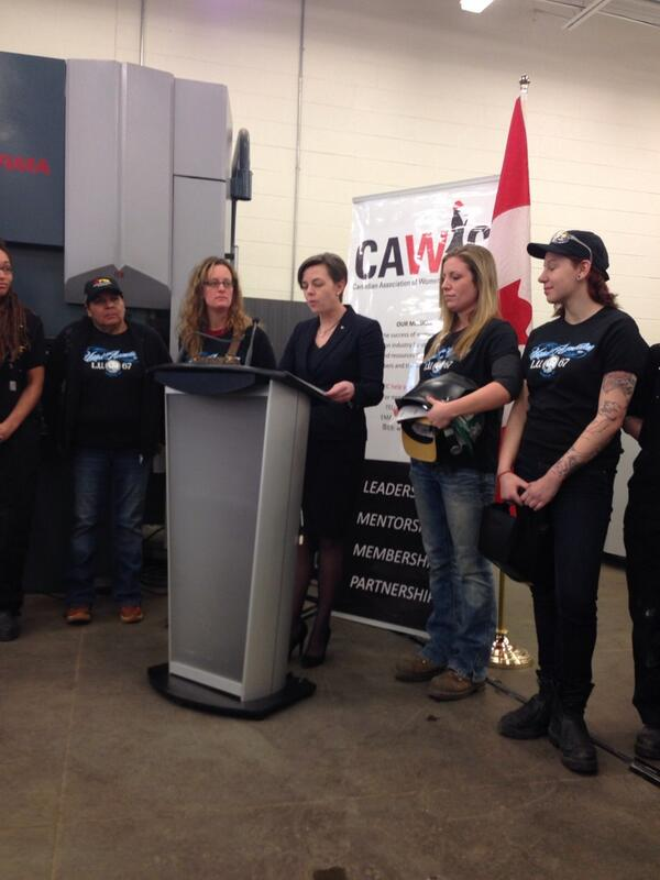 Minister of Labour and Minister of Status of Women, Kellie Leitch, announced Canadian Association of Women in Construction (CAWIC) as recipient of federal funding for a 36-month project targeted to women in construction.