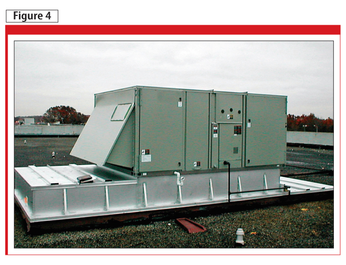 This image shows a rooftop HVAC unit in Michigan where a newly installed bearing protection ring reduced shaft currents by 92 per cent to well below a damaging level.