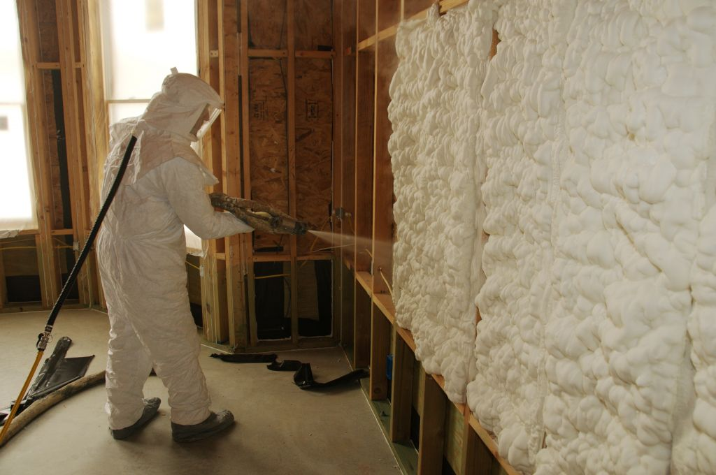 Used for various applications, sprayed polyurethane foam (SPF), is specified for its energy efficiency and durability. Photos courtesy Spray Foam Coalition
