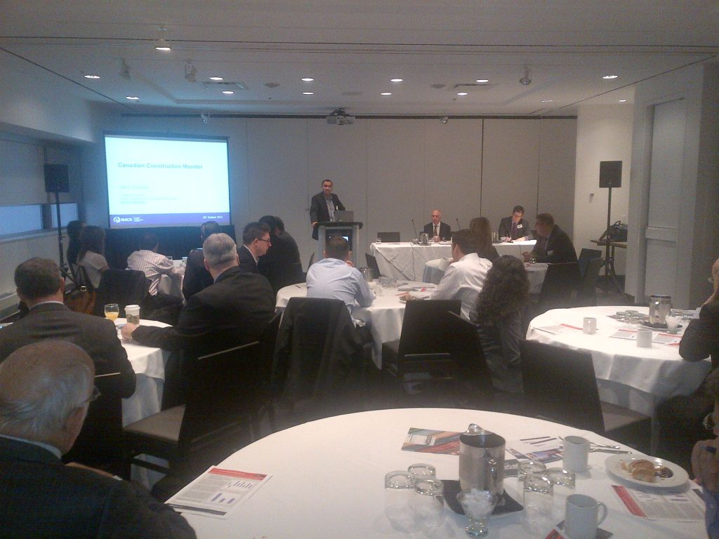 Canadian construction survey findings discussed for Royal institute of chartered architects