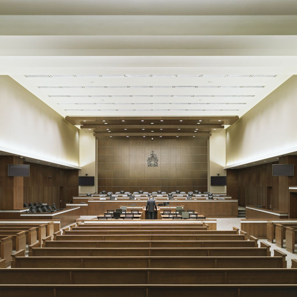 The Calgary Courts Centre (CCC) is home to both the Provincial Court of Alberta and the Court of Queen's Bench.