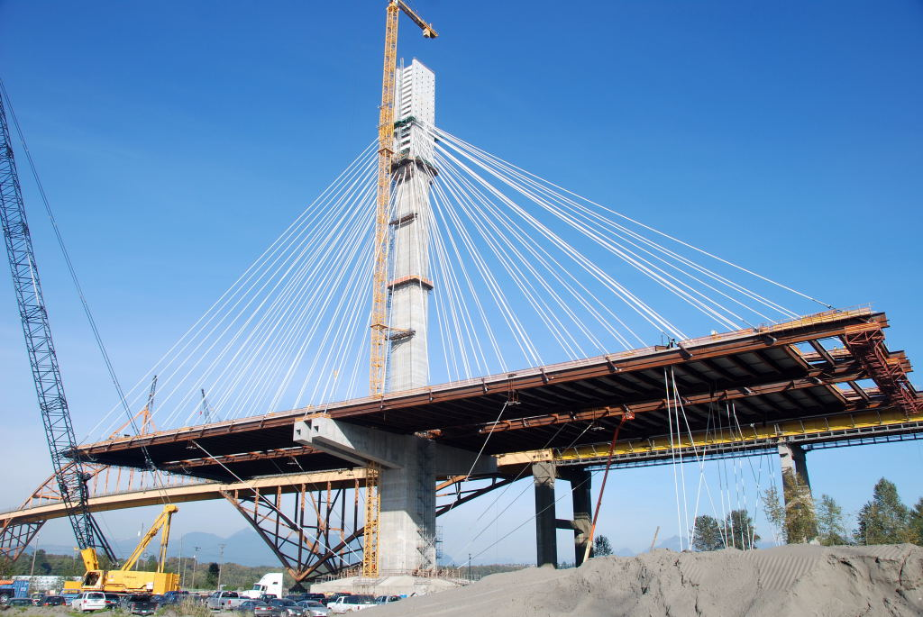 The $1.9-billion Port Mann Bridge project in Vancouver. Photo courtesy Canron