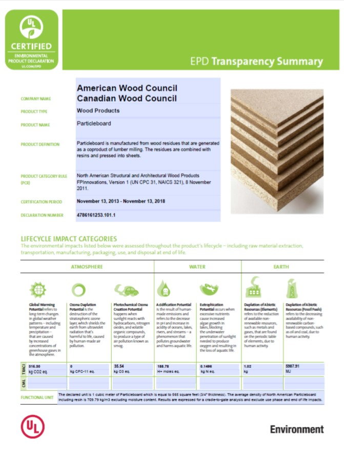 The Canadian Wood Council (CWC) and American Wood Council (AWC) have released the ninth environmental product declarations (EPD) for wood products in North America. Image courtesy American Wood Council