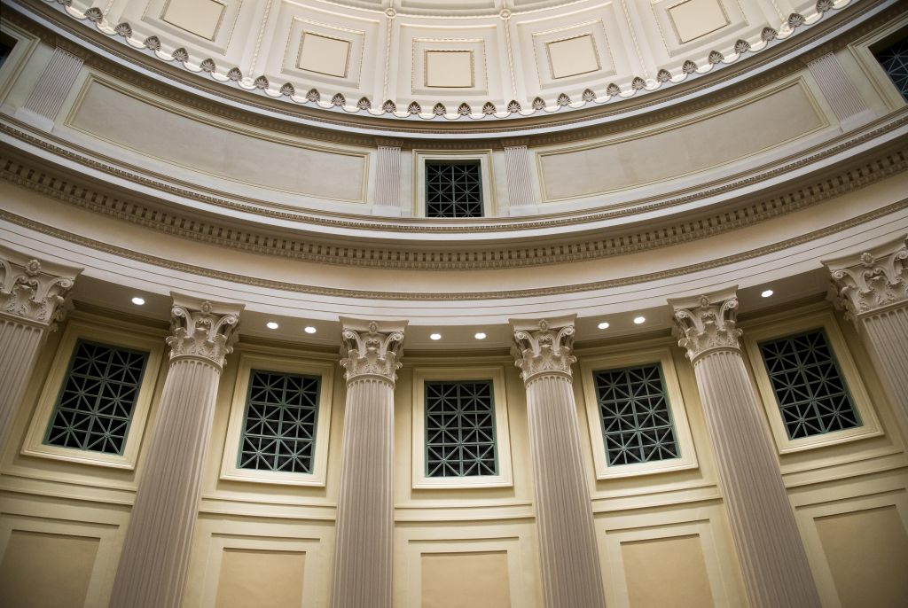 The installation of light-emitting diode (LED) downlights with control technology highlighted architectural features in Massachusetts Institute of Technology's (MIT's) Great Dome as part of a skylight renovation.