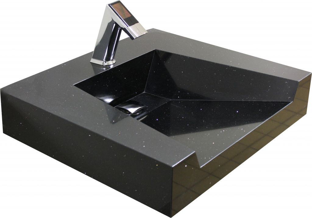 A front-to-back pitch on this open front sink system keeps water in check, yet is best suited for applications where users are not prone to mischief.