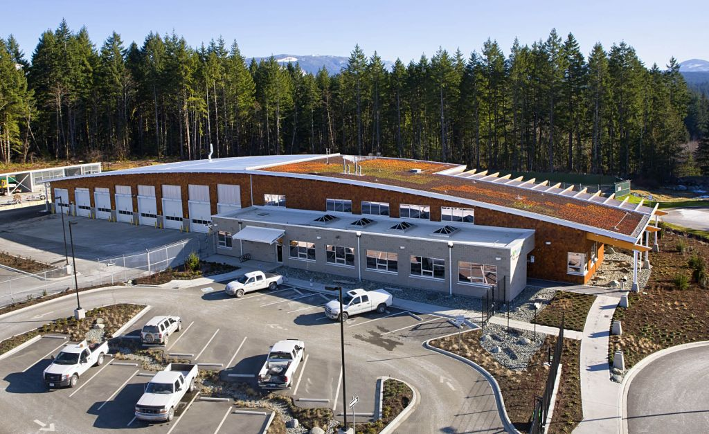 B.C. Hydro's Port Alberni Field Office opened in 2010 and was built to post-disaster seismic standards. Photo courtesy B.C. Hydro