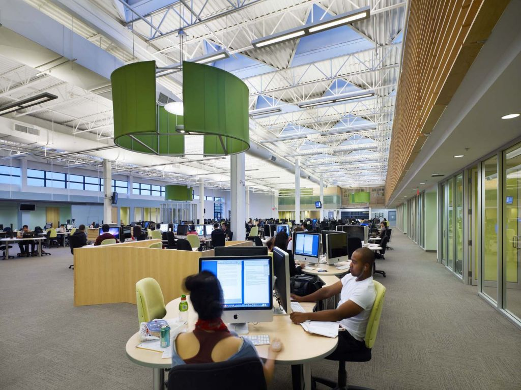 This is the main space of Sheridan College's Learning Commons. Photo © Tom Arban