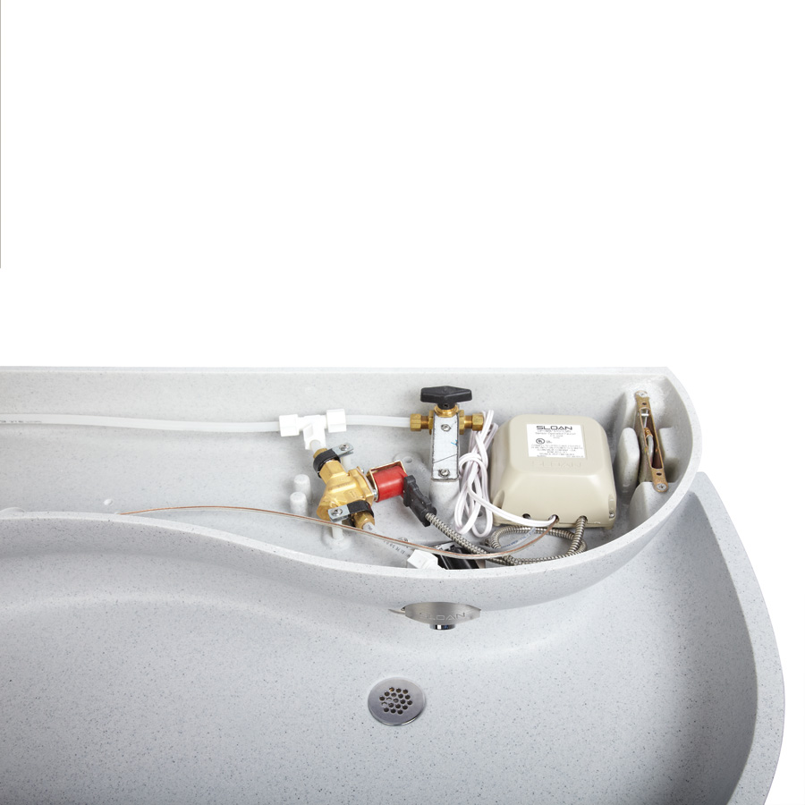 Sink systems giving above-deck access to components, make it easier for maintenance personnel to reach and service units.