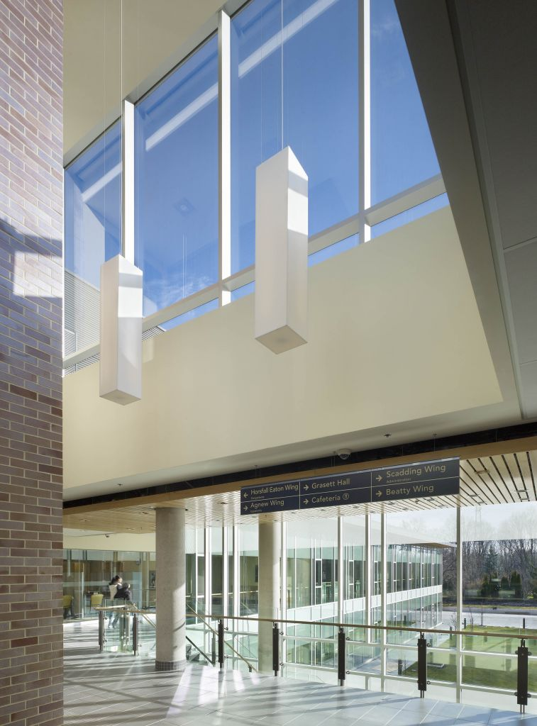 Natural daylighting also offers views to the surrounding landscape and decreases the need for interior lighting.