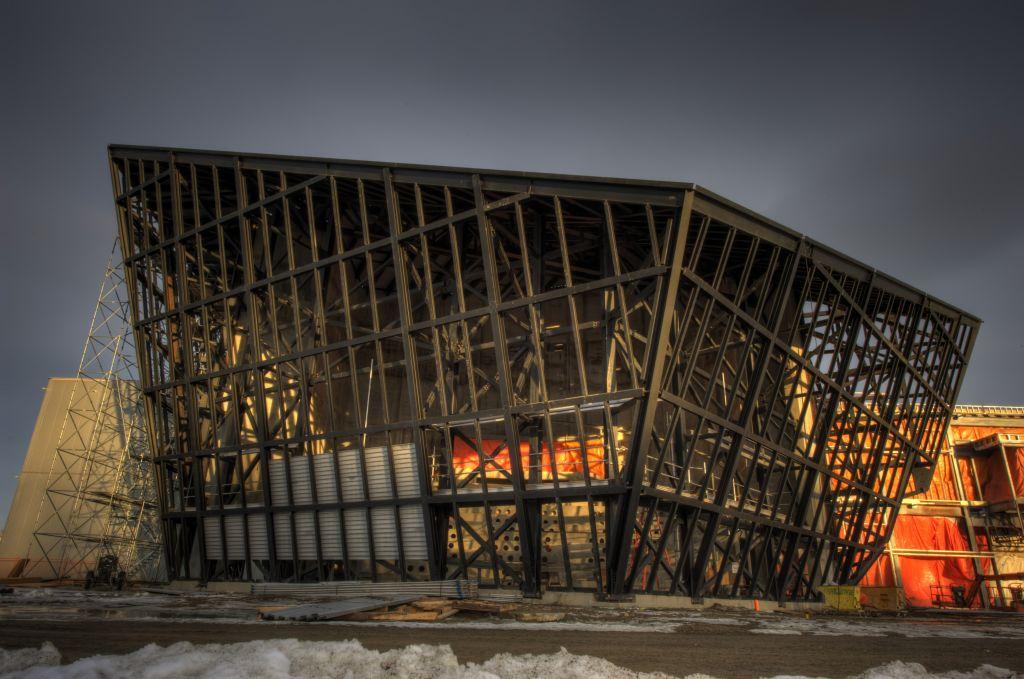 TELUS Spark- Steel Work on Dome Theatre