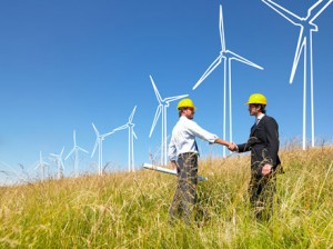 bigstock_Engineers_Building_Windmills_6471291