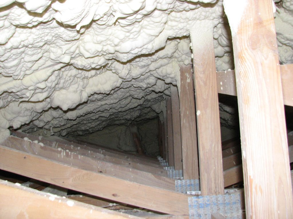 In the case shown above, a vented attic space would make much more sense than an unvented space. Insulating the fl oor of the attic would not only be easier, but it would also save energy.