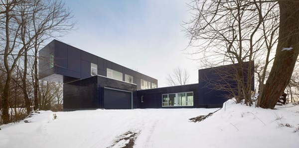 Port Colborne, Ont.'s Indigo House, designed by Cindy Rendely Architexture, was the sole Canadian recipient of the 2014 Brick in Architecture Awards. Photo © Tom Arban