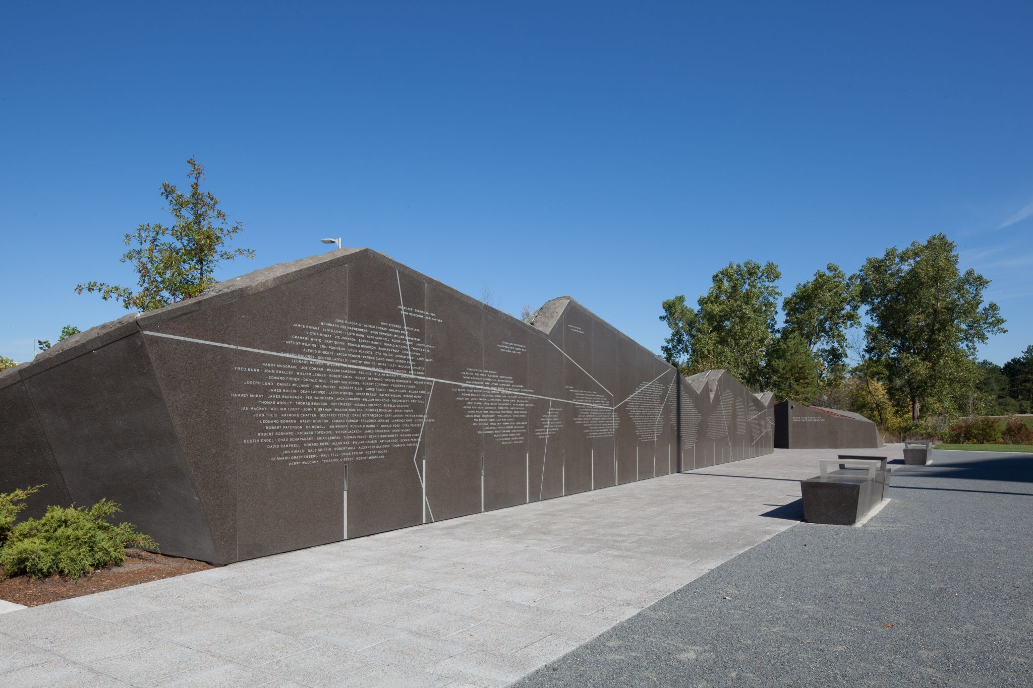 Building Landscape Stone : Building the canadian firefighters memorial integration
