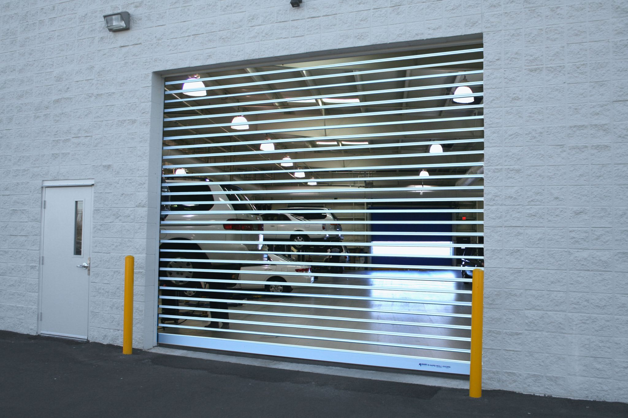 The automotive industry is a major user of these door types as they have found with fewer moving parts and high speed, coupled with the safety systems, little maintenance is required.