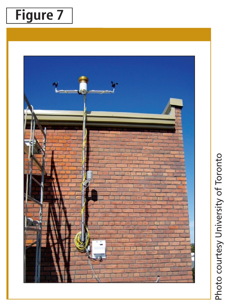 Weather stations like this one are used to collect site-specifi c information.