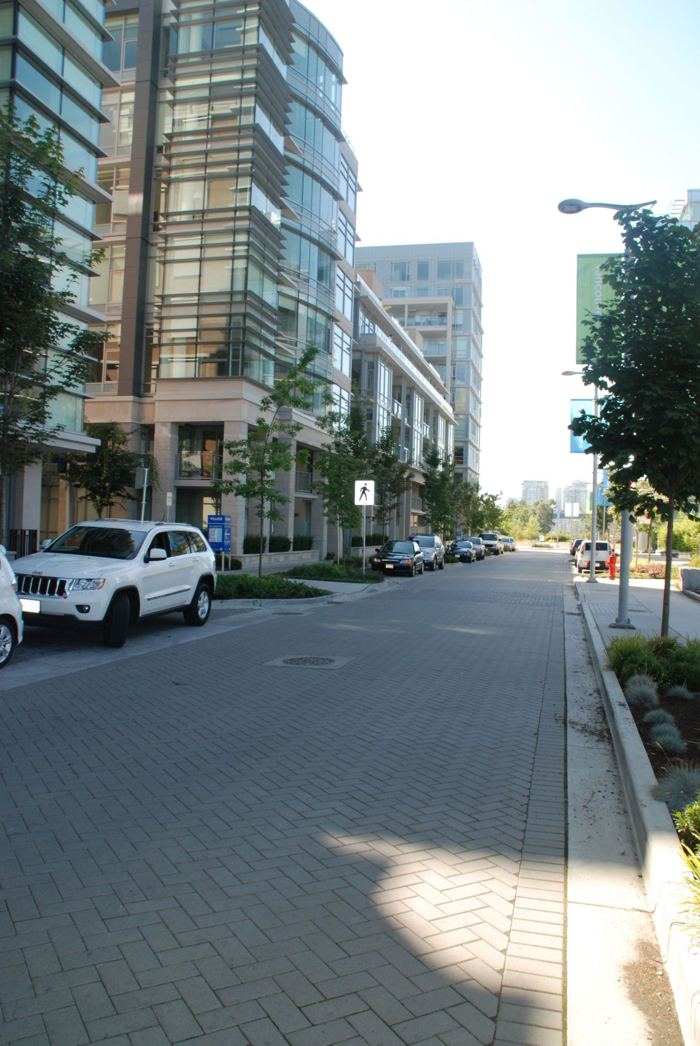 A permeable interlocking concrete pavement was specifi ed for the Olympic Village in Vancouver.