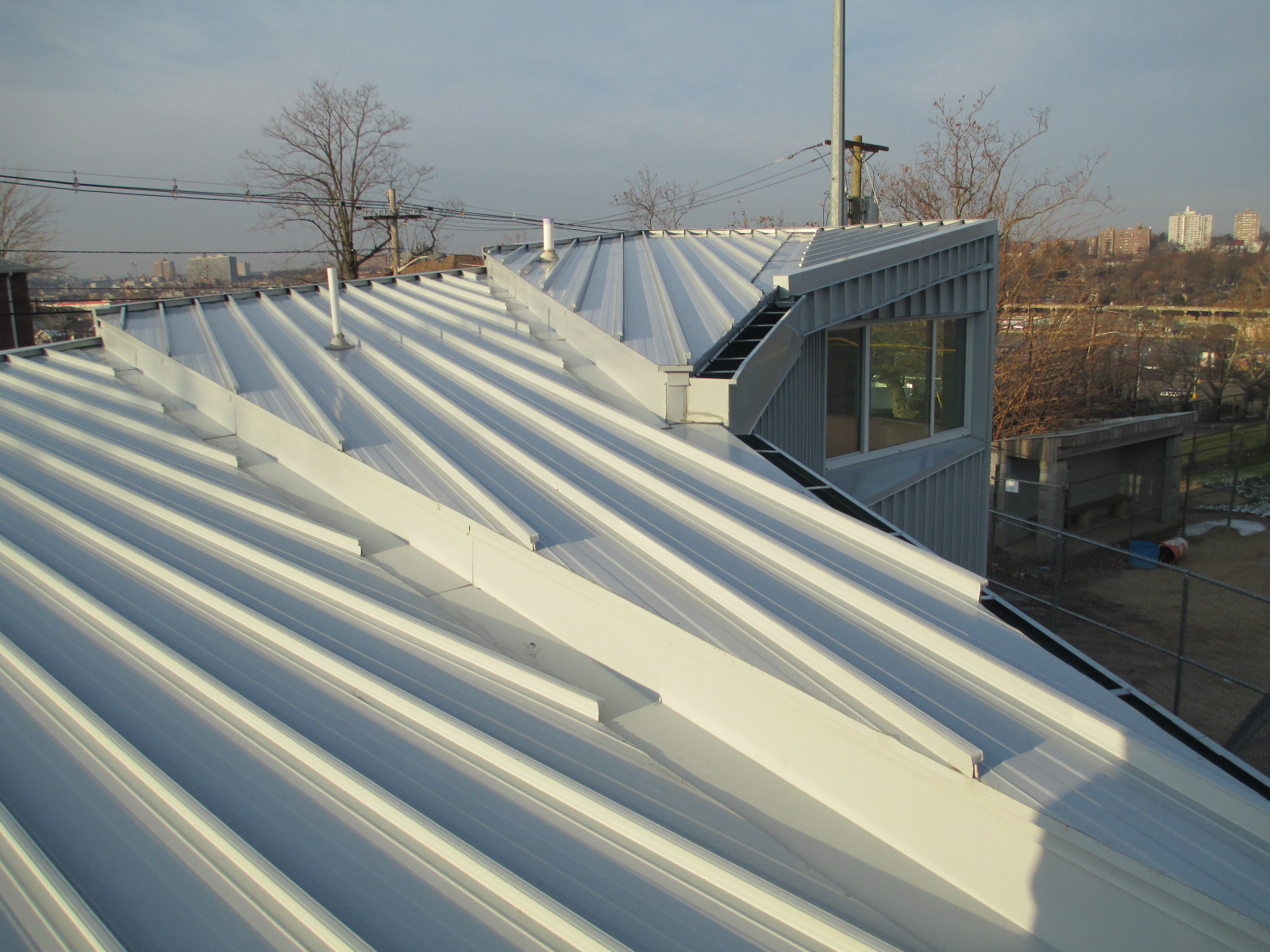Metal roofi ng has made challenging architectural designs possible such as this fi eld house roof in Kearny, NJ.