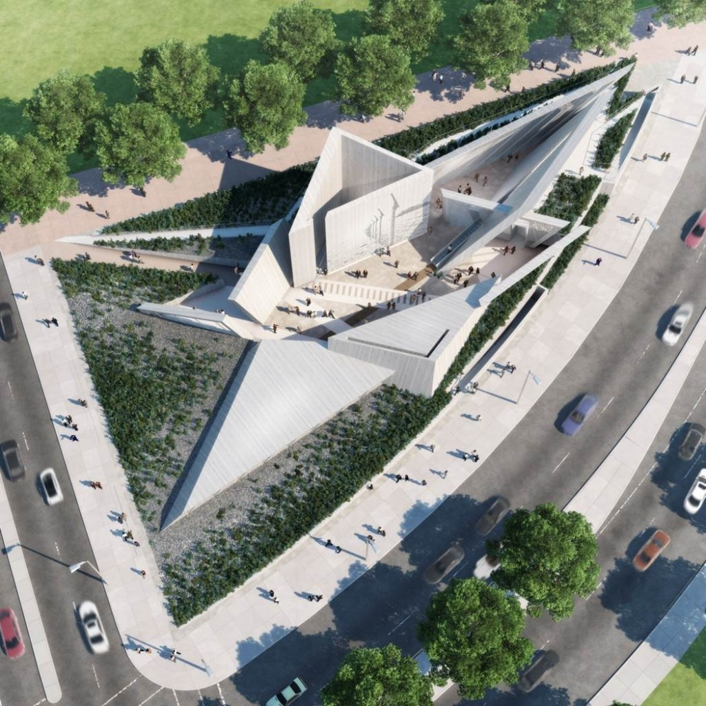 Daniel Libeskind, a keynote speaker at this year's IIDEXCanada show, is on the design team of Ottawa's Holocaust Monument. Image courtesy Lord Cultural Resources, Studio Daniel Libeskind, Claude Cormier + Associés, Edward Burtynsky, and Doris Bergen