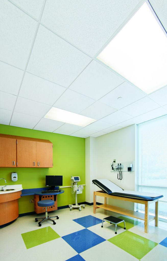 Physician-patient confidentiality is a key concern in many healthcare spaces including examination rooms.