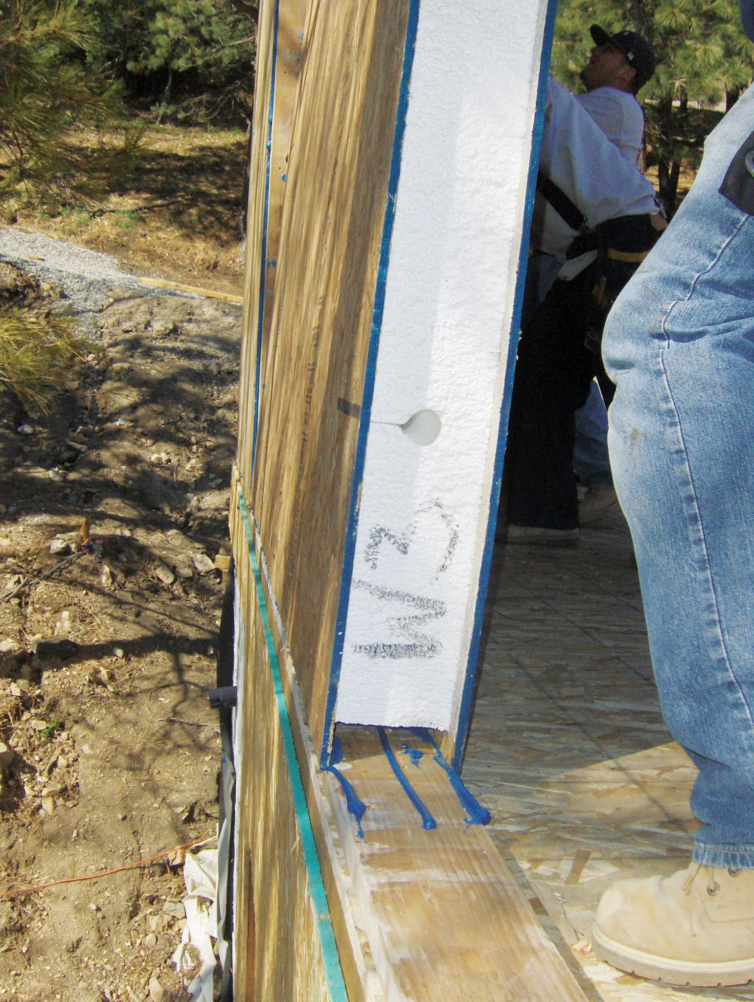 Structural insulated panels (SIPs) are typically made with an EPS core.