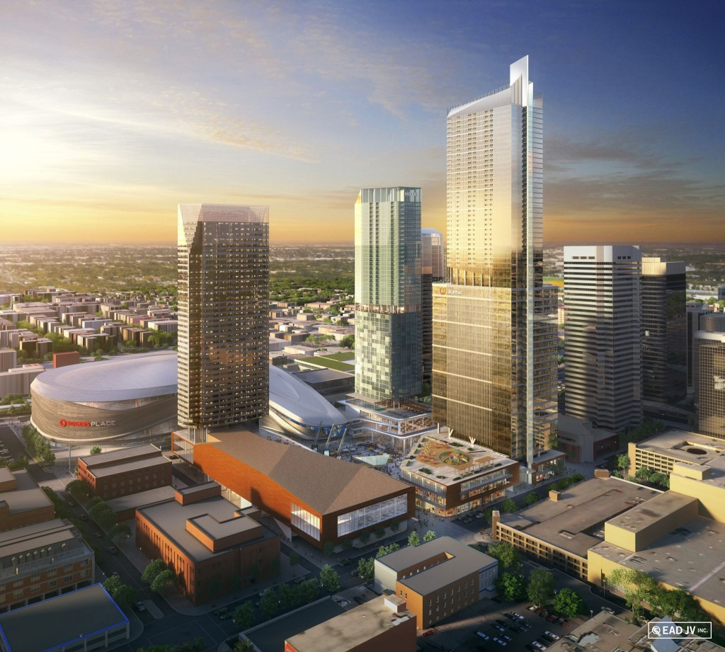 The new Stantec Tower in Edmonton will become the tallest structure in the city, standing 227 m (735 ft) tall. Image courtesy Stantec
