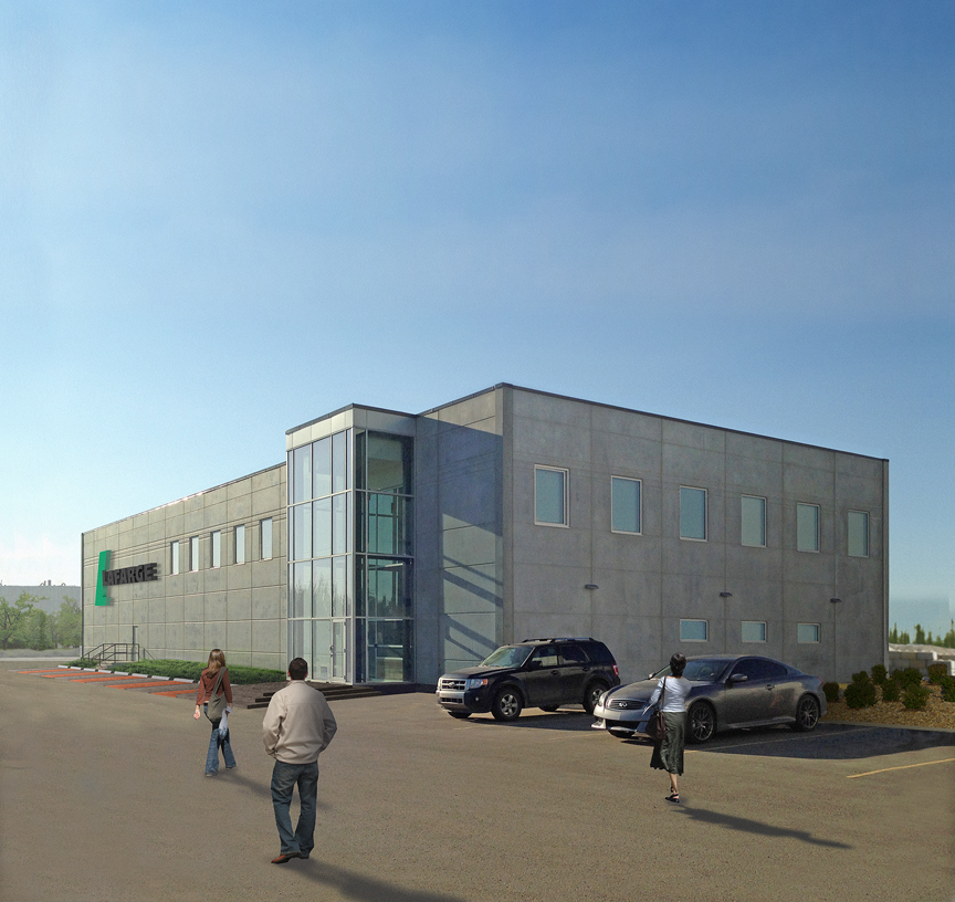 Lifecycle assessments (LCAs) and an Environmental Building Declaration (EBD) have been developed for the Lafarge Innovation Hub in Edmonton. Image courtesy Lafarge